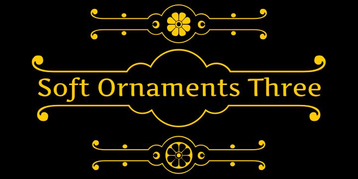 Soft Ornaments Three font by Intellecta Design