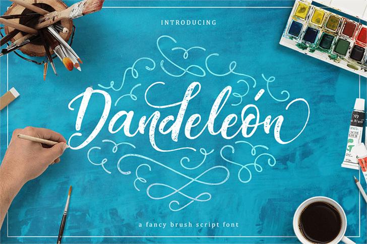 Dandeleon Vintage Demo font by burntilldead