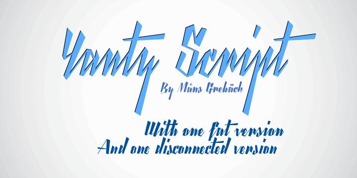 Yanty Script Demo font by Måns Grebäck