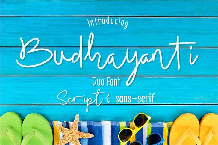 Budhayanti Script font by madeDeduk