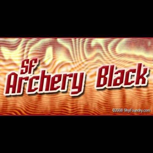 SF Archery Black font by ShyFoundry