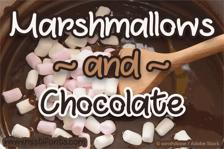Marshmallows and Chocolate font by Misti's Fonts