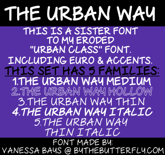 The Urban Way font by ByTheButterfly