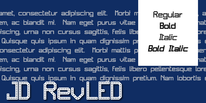 JD RevLED font by Jecko Development