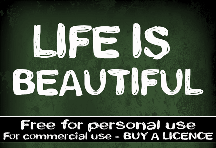 CF Life is beautiful font by CloutierFontes