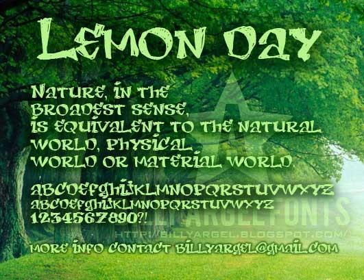LEMON DAY font by Billy Argel