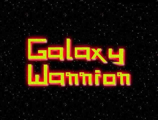 Galaxy Warrior font by LordJimIII