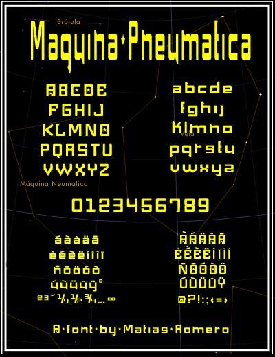 Maquina Pneumatica font by Matias Romero