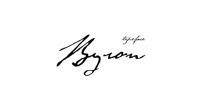 Byron font by Zetafonts