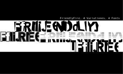 Friendly Fire Power font by Manfred Klein