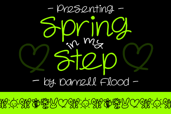 Spring in my Step font by Darrell Flood