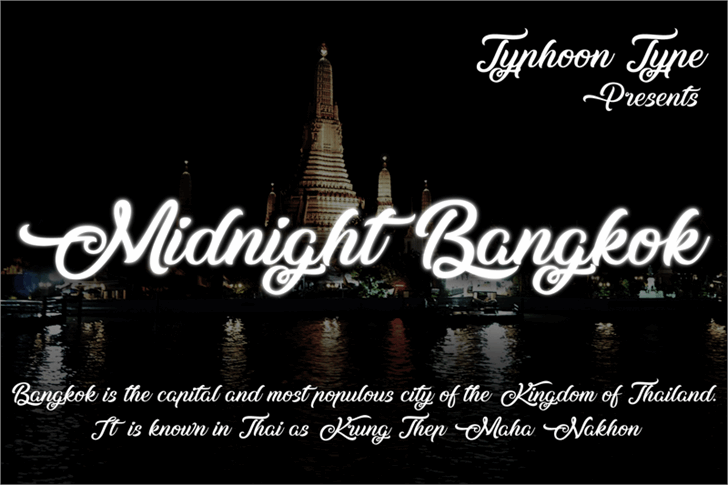 Midnight Bangkok font by Typhoon Type - Suthi Srisopha