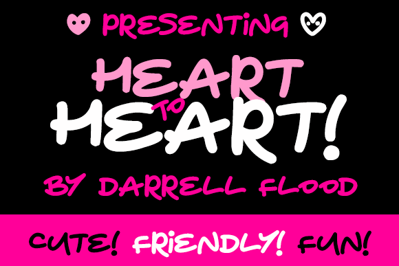 Heart To Heart font by Darrell Flood