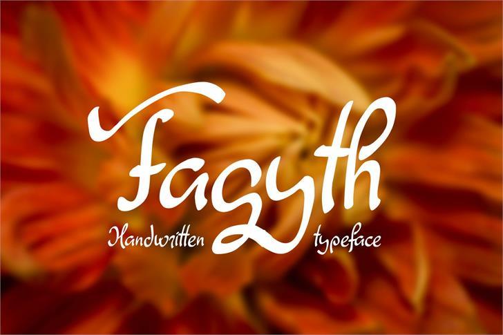 Fagyth font by Eva Barabasne Olasz