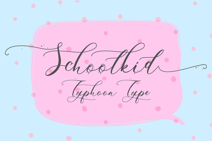 Schoolkid font by Typhoon Type - Suthi Srisopha