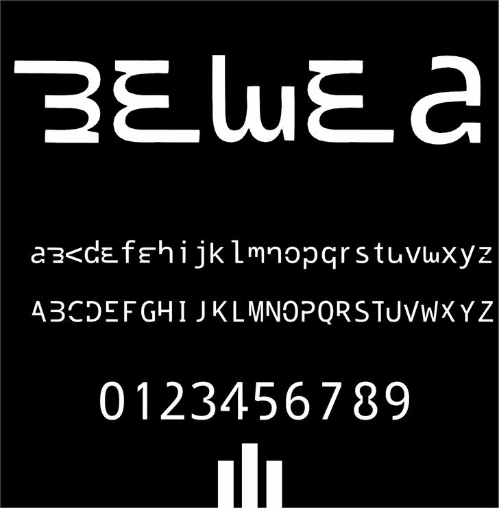 bewea font by Cé - al