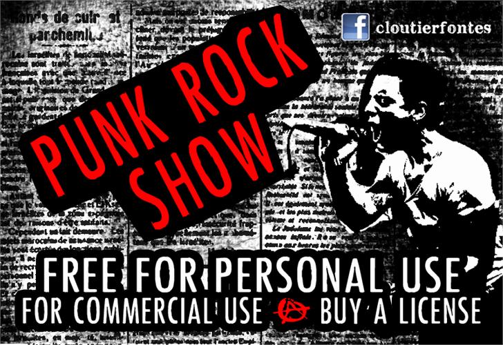 PunkRockShow font by CloutierFontes