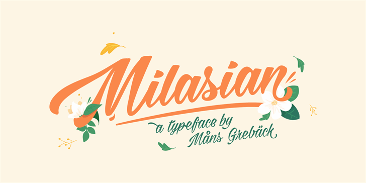 Milasian Thin PERSONAL font by Måns Grebäck