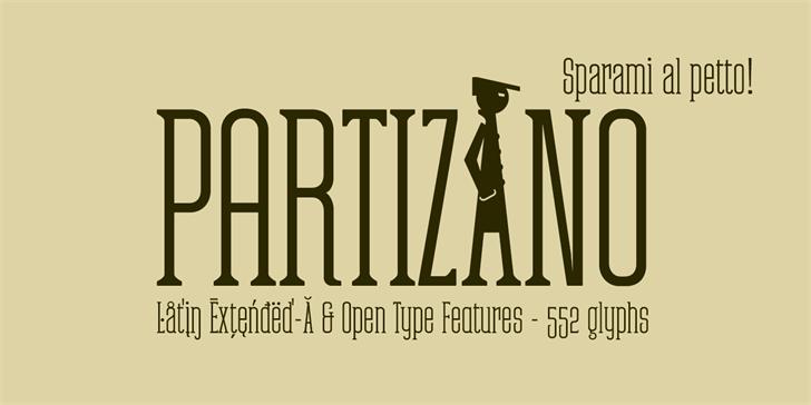 Partizano font by deFharo