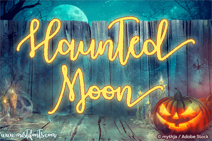 Haunted Moon font by Misti's Fonts