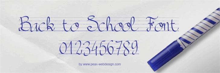 PWBacktoSchool font by Peax Webdesign