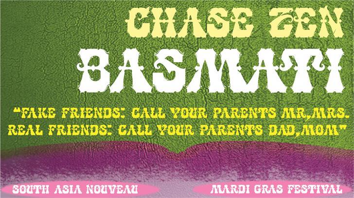 CHASE ZEN BASMATI font by chung deh tien chase zen