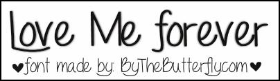LoveMeForever font by ByTheButterfly