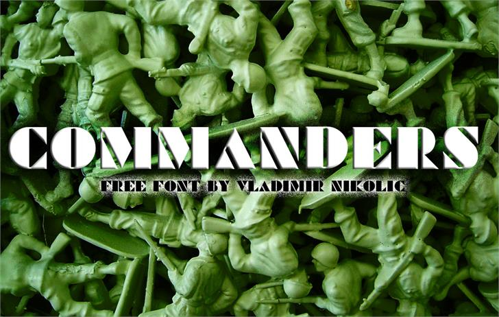 Commanders font by Vladimir Nikolic