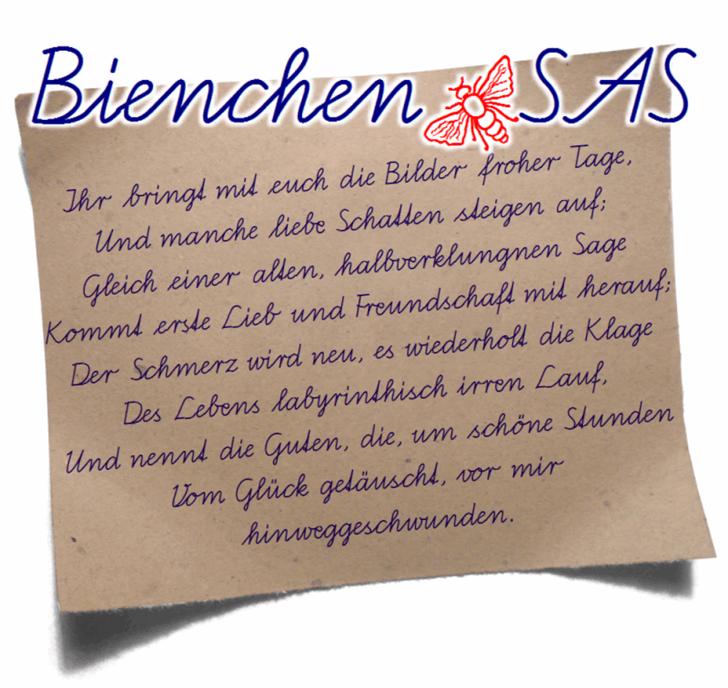 Bienchen SAS font by Peter Wiegel