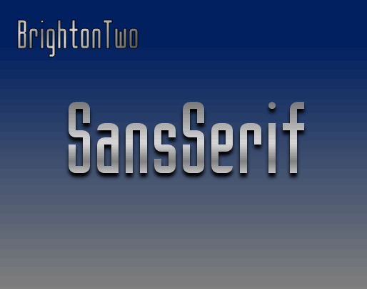 BrightonTwo Sans NBP font by total FontGeek DTF, Ltd.