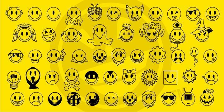 JLS Smiles Sampler font by the Fontry