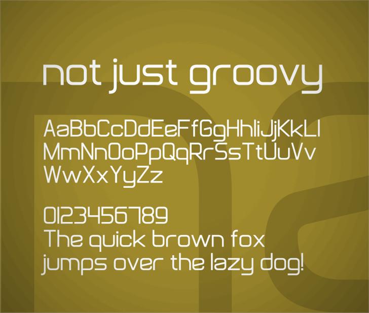 Not Just Groovy font by Zdeněk Gromnica