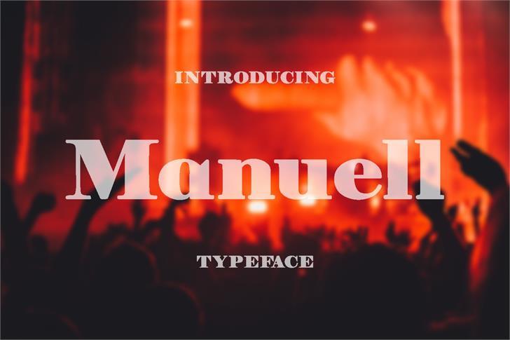 Manuell font by Eva Barabasne Olasz