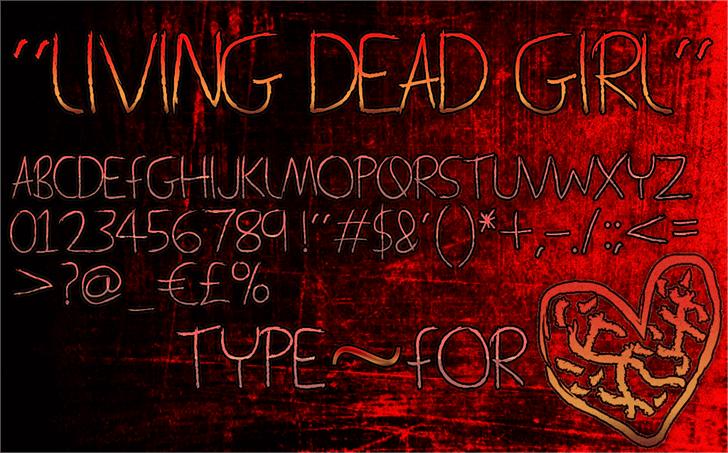 Living Dead Girl font by Magic Fonts