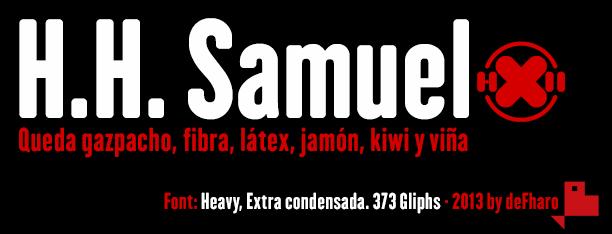 H.H. Samuel font by deFharo