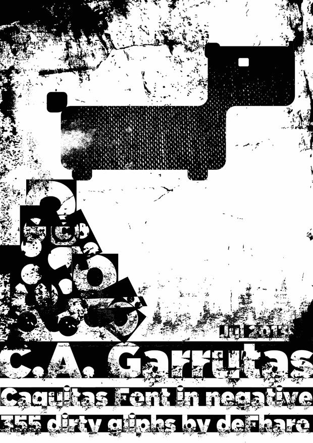 C.A. Garrutas font by deFharo