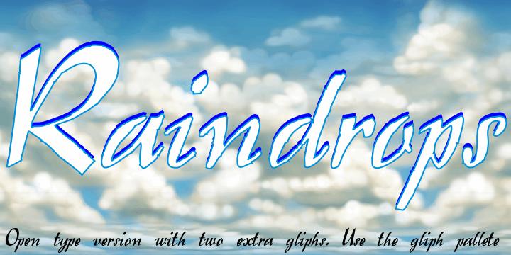 Raindrops font by Intellecta Design