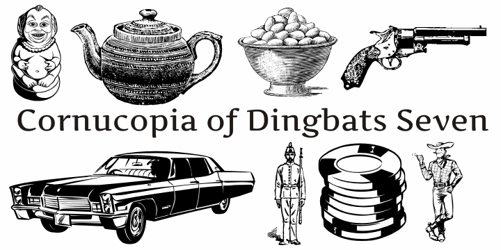 Cornucopia of Dingbats Seven font by Intellecta Design