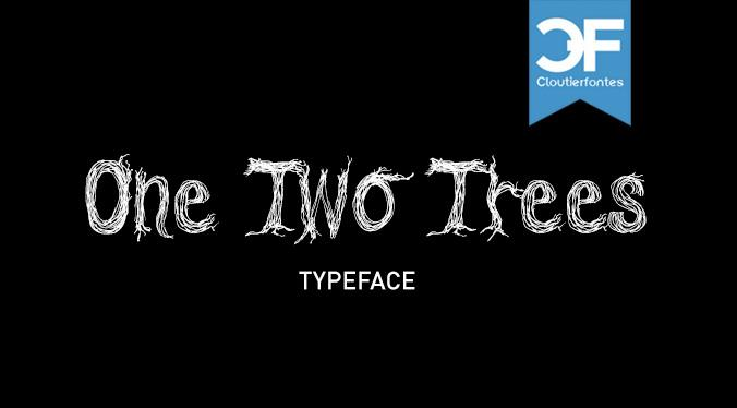 CF One Two Trees font by CloutierFontes