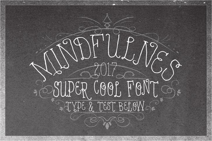 VTKS MINDFULNESS v2 font by VTKS DESIGN