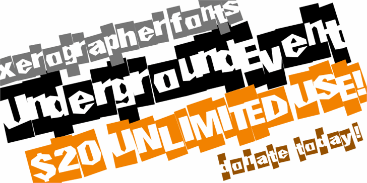UndergroundEvent font by Xerographer Fonts