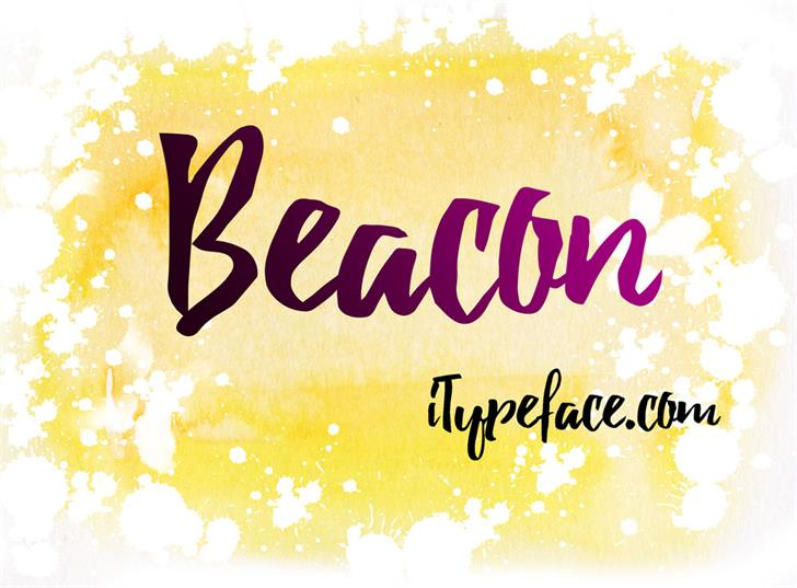 Beacon font by iTypeface