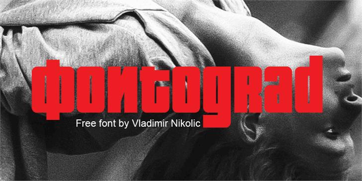 Fontograd font by Vladimir Nikolic