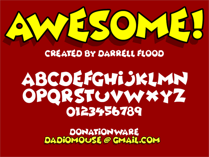 Awesome font by Darrell Flood