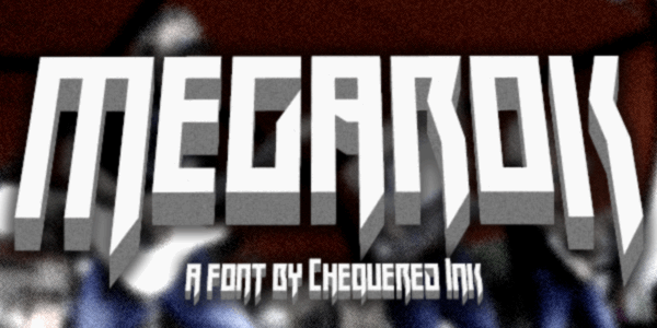 Megarok font by Chequered Ink