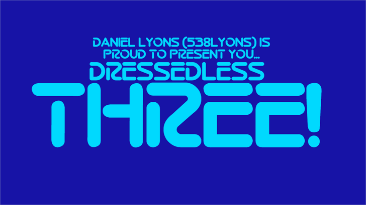 Dressedless font by 538Fonts