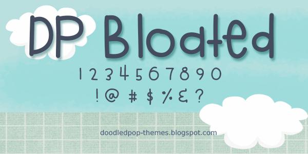 DPBloated font by doodledpop