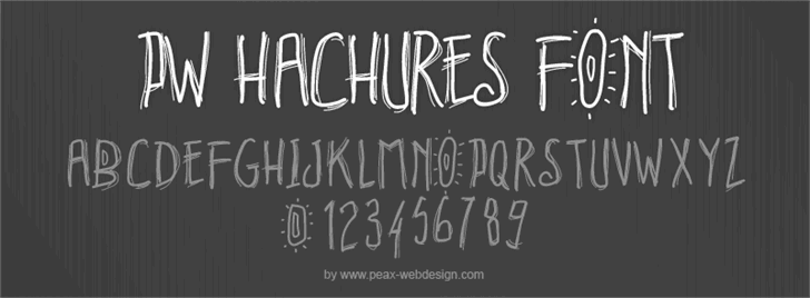 PWHachures font by Peax Webdesign