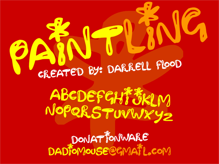 Paintling font by Darrell Flood