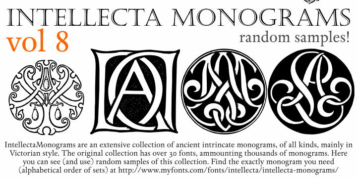 Intellecta Monograms Random Eight font by Intellecta Design